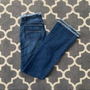 express trendy frayed flare jeans 🪐 size 3/4 L